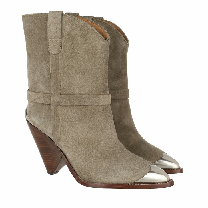 Schuh, Isabel Marant Étoile, Lamsy Western Boots Leather Taupe