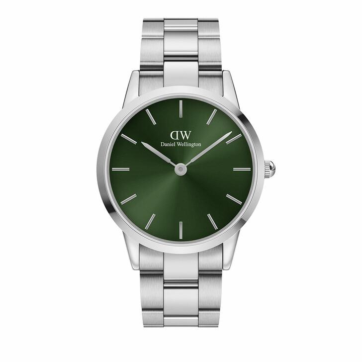 watches, Daniel Wellington, Watch Iconic Emerald 40 Silver Green