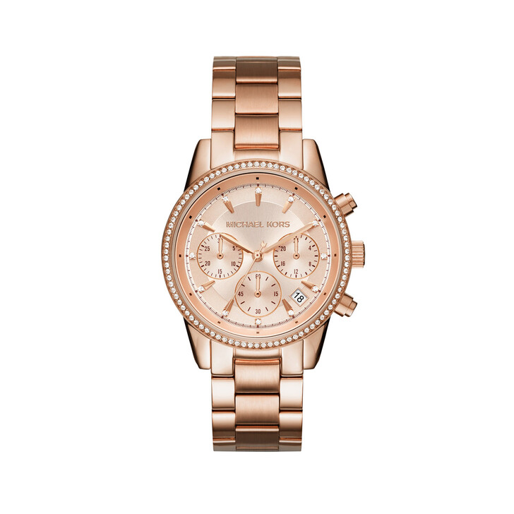 Uhr, Michael Kors, MK6357 Ritz Watch Rosegold/Gold-Tone