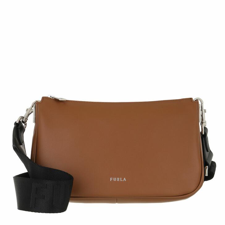 bags, Furla, Furla Moon Small Shoulder Bag Cognac/Nero