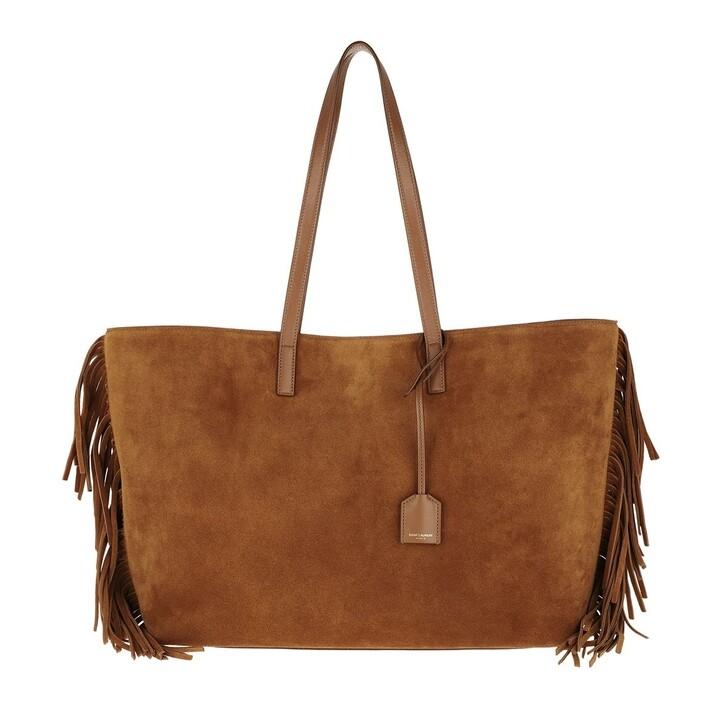 Handtasche, Saint Laurent, Tote Bag Suede Cinnamon