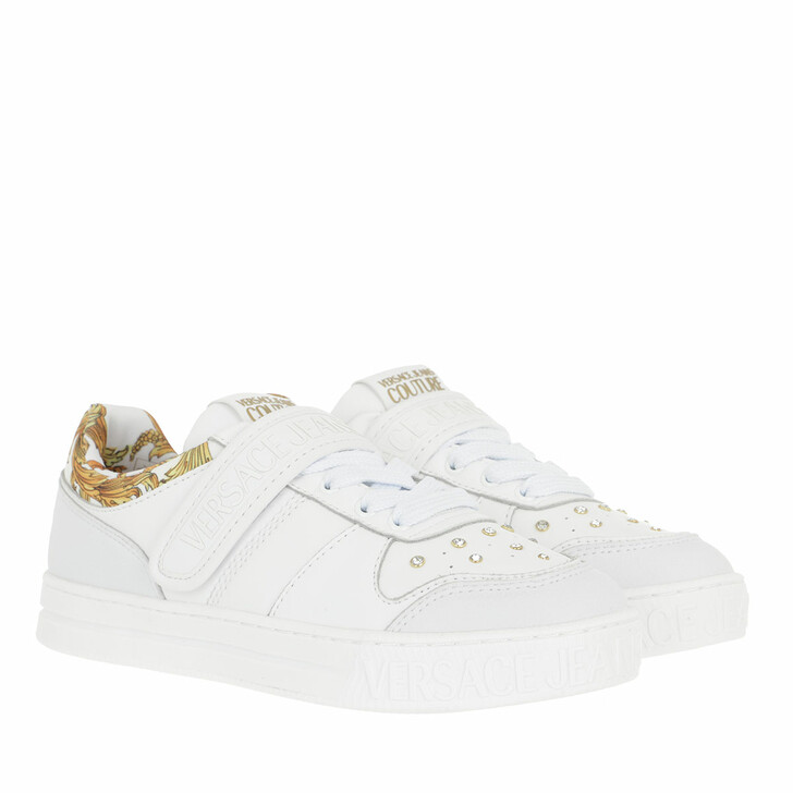 Schuh, Versace Jeans Couture, Linea Fondo Court 88 Sneaker White Gold