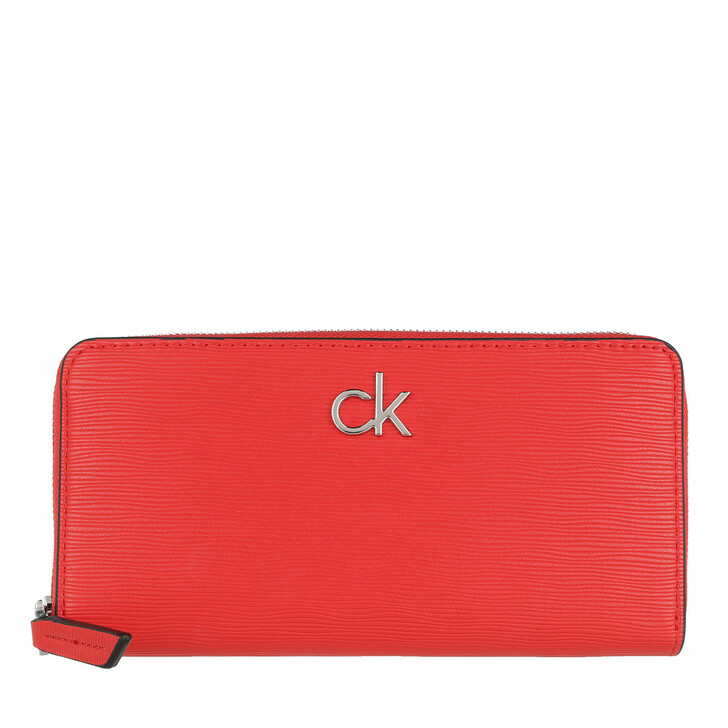Geldbörse, Calvin Klein, Zip Around Wallet Large Vibrant Coral