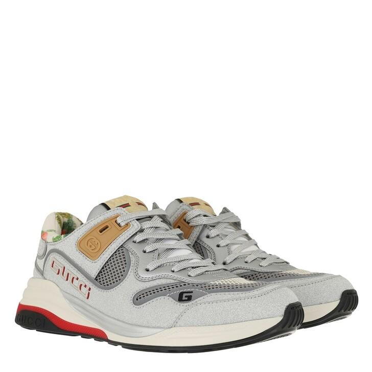 Schuh, Gucci, Ultrapace Sneaker Silver Glitter