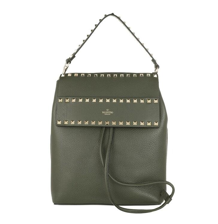 bags, Valentino Garavani, Rockstud Backpack Calf Khaki