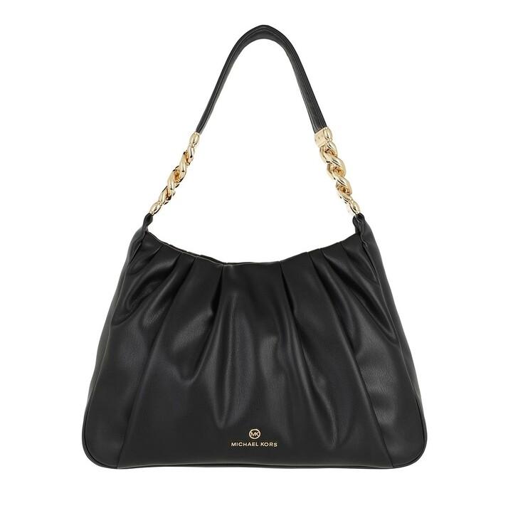 Handtasche, MICHAEL Michael Kors, Hannah Medium Shoulder Black