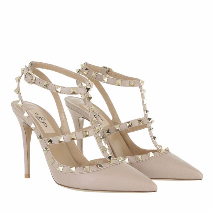 shoes, Valentino Garavani, Rockstud Ankle Strap Pump Powder