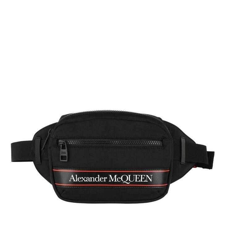 Handtasche, Alexander McQueen, Belt Bag Black Red