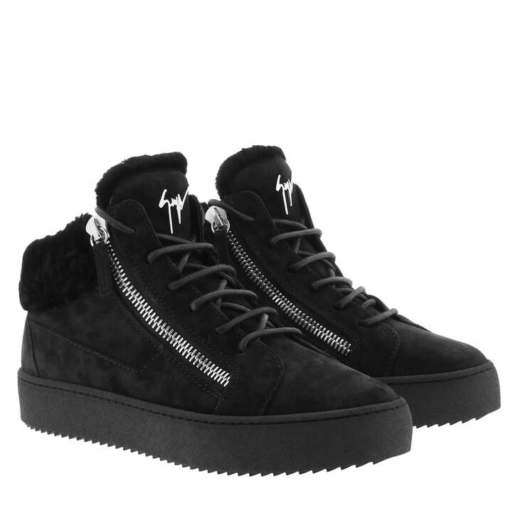 Schuh, Giuseppe Zanotti, Velour Sneaker Black