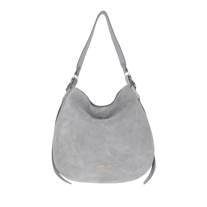 bags, Coccinelle, Maeva Suede Hobo Bag Glass