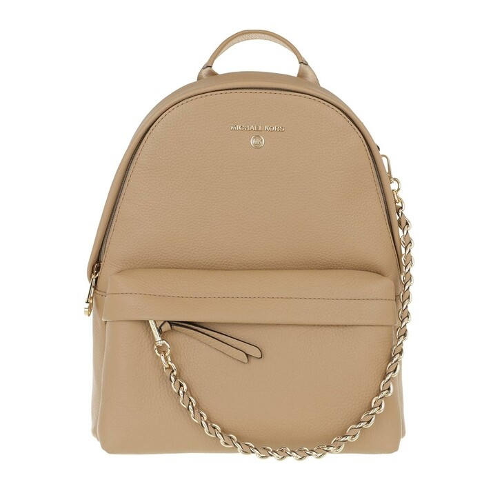 Reisetasche, MICHAEL Michael Kors, Slater Backpack Medium Leather Camel