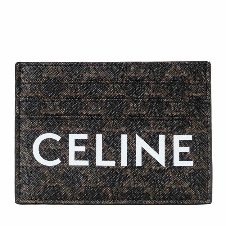 Geldbörse, Celine, Logo Monogram Cardholder Leather Black