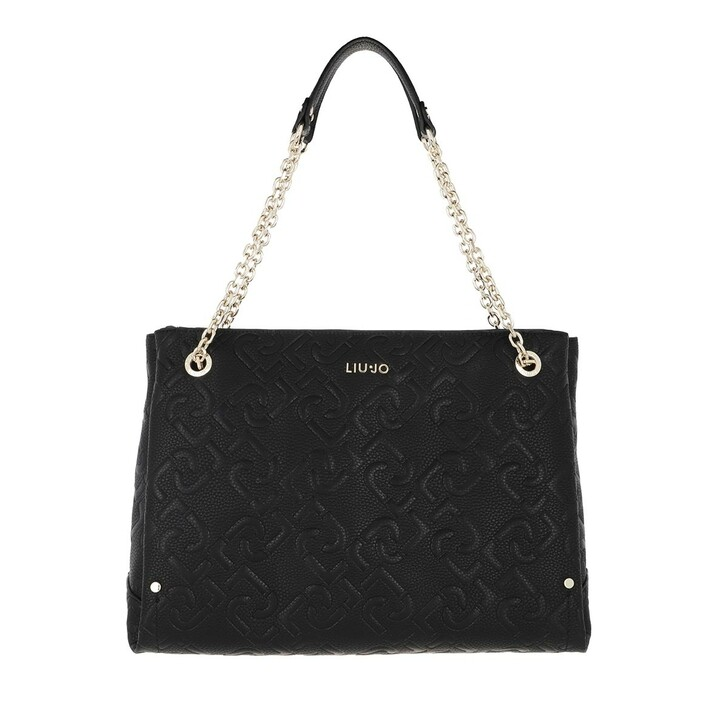 bags, LIU JO, Ecs M Satchel W/Pocket Black