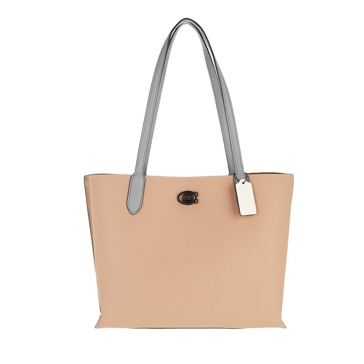Handtasche, Coach, Colorblock Leather Willow Tote V5/Taupe Multi