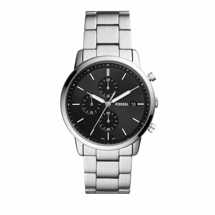 watches, Fossil, Men's Minimalist Chronograph Stainless Steel Watch Silver