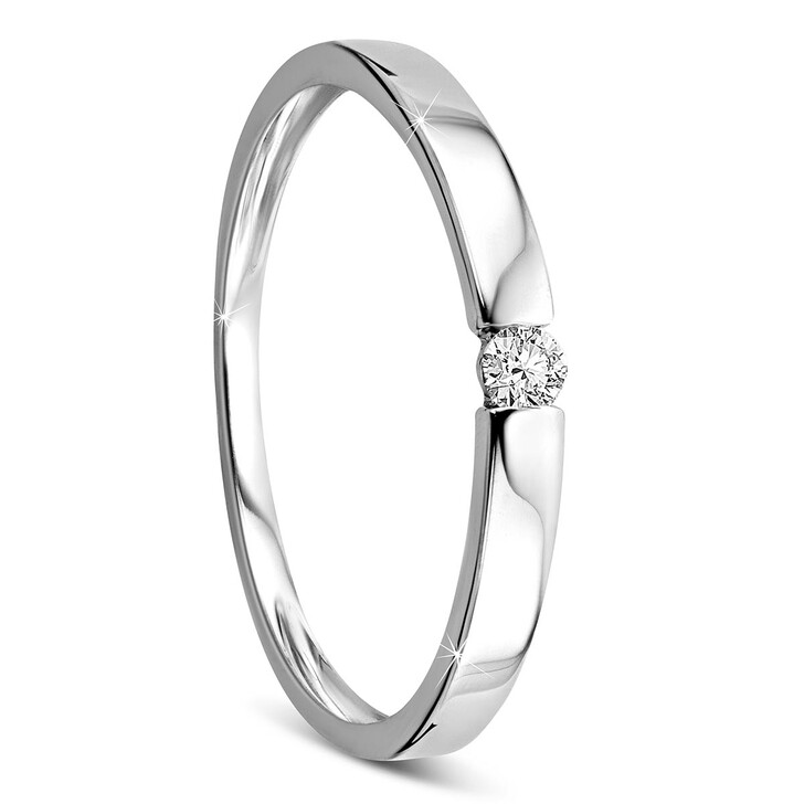 Ring, DIAMADA, 0.05ct Diamond Solitaire Ring  14KT White Gold