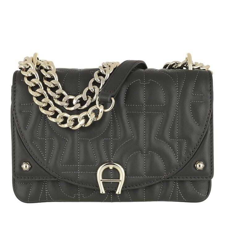 Handtasche, AIGNER, Diadora Pochette Bag Mud Green