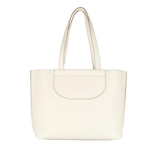 tod's -  Shopper - Medium Shopping Bag Leather - in weiß - für Damen