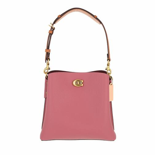 coach -  Beuteltasche - Colorblock Leather Willow Bucket Bag 21 - in rot - für Damen