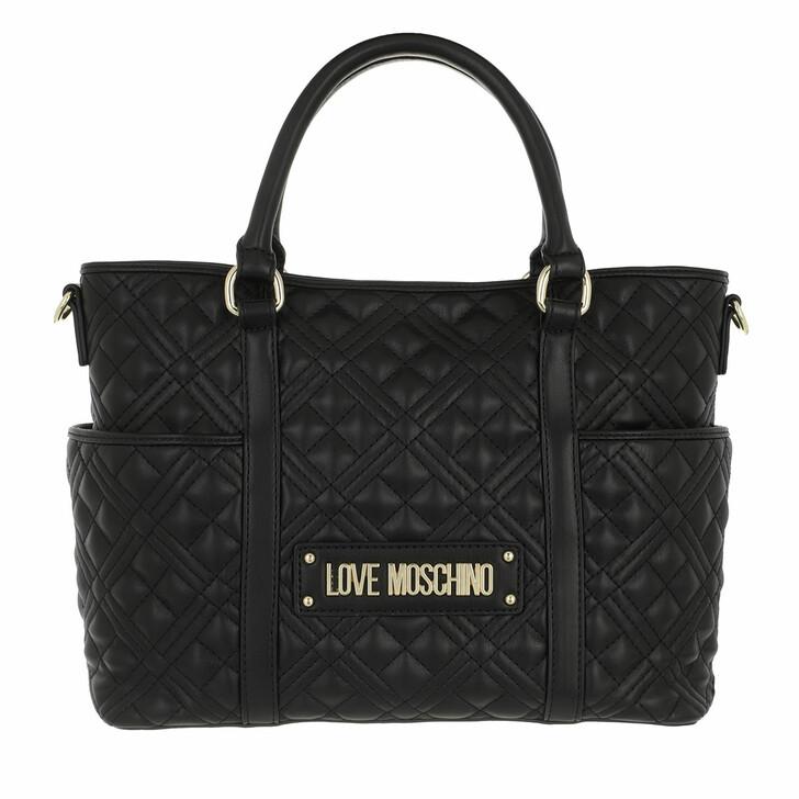 Handtasche, Love Moschino, Borsa Quilted Nappa Pu   Nero