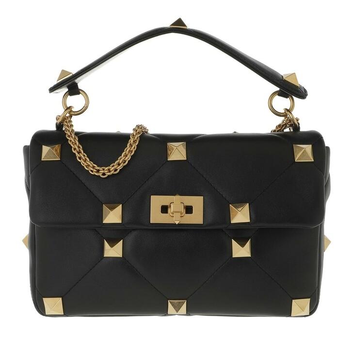Handtasche, Valentino Garavani, Shoulder Bag Leather Black