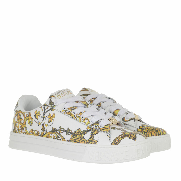shoes, Versace Jeans Couture, Sneakers Shoes White/Gold