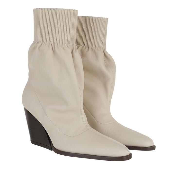 Schuh, Kenzo, Billow Low Top Boots Leather Ecru