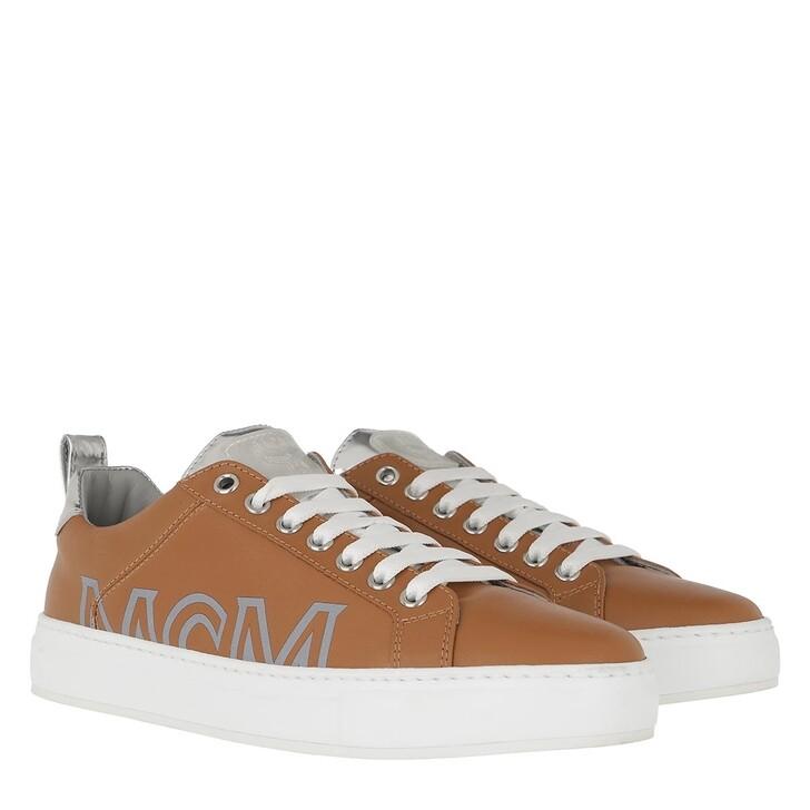 Schuh, MCM, Big Logo Sneakers Cognac Silver