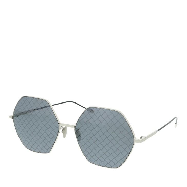 Sonnenbrille, Bottega Veneta, BV0201S-001 60 Sunglass WOMAN METAL SILVER