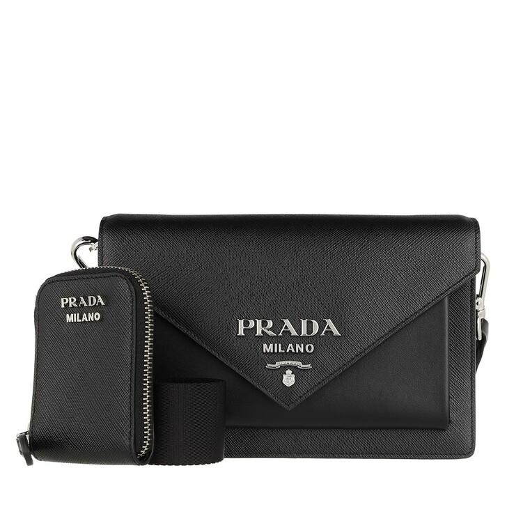 Handtasche, Prada, Mini Envelope Bag Leather Black