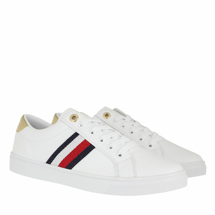 Schuh, Tommy Hilfiger, TH Corporate Cupsole Sneakers White