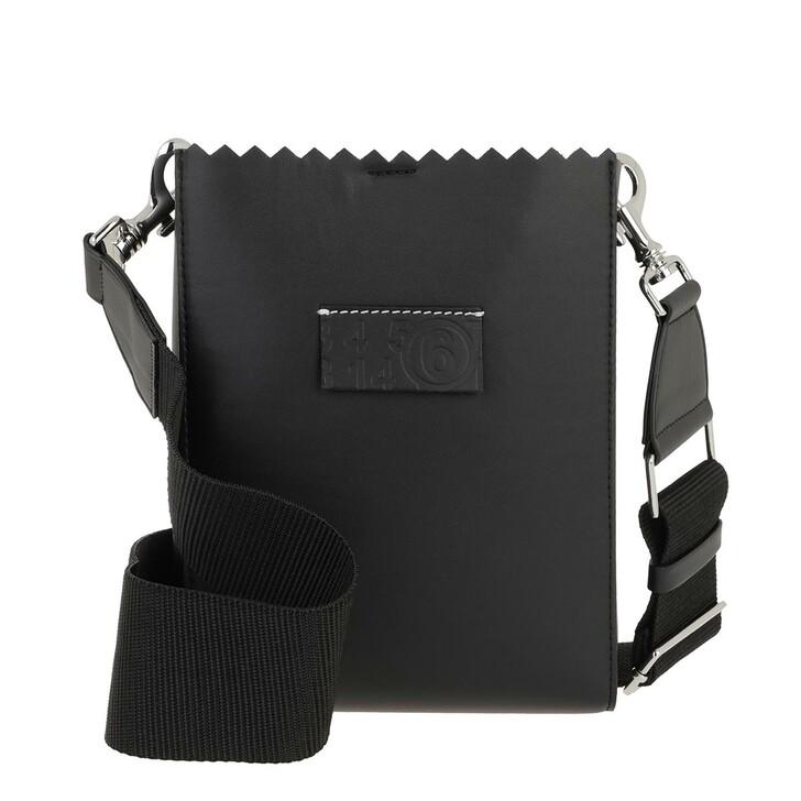 Handtasche, MM6 Maison Margiela, Synthetic Leather Shopping Bag Black