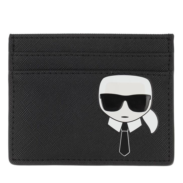 wallets, Karl Lagerfeld, Ikonik Classic Card Holder  Black