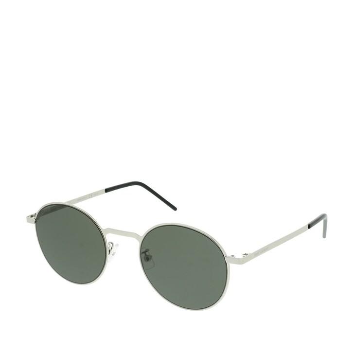 sunglasses, Saint Laurent, SL 250 SLIM-001 51 Sunglasses Silver-Silver-Grey