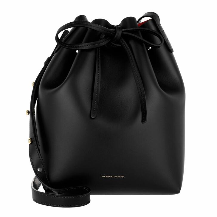 Handtasche, Mansur Gavriel, Mini Bucket Bag Black Flamma