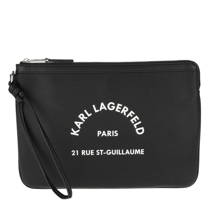 bags, Karl Lagerfeld, Rue St Guillaume Pouch Black