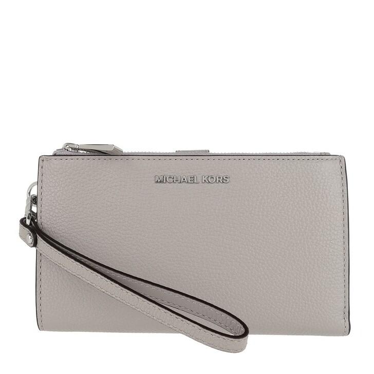Handtasche, MICHAEL Michael Kors, Double Zip Wristlet Pearl Grey