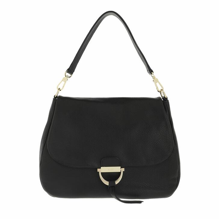 bags, Abro, Shoulder Bag TEMI maxi  Black/Gold