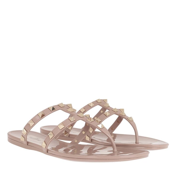 Schuh, Valentino Garavani, Rockstud Thong Sandal Poudre