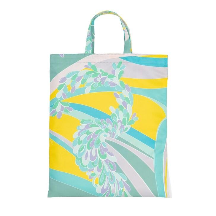 Handtasche, Emilio Pucci, Tote Bag Lilly All Over Turchese/Glicine