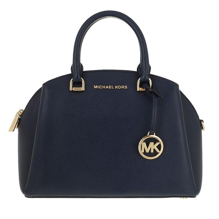 Handtasche, MICHAEL Michael Kors, Medium Dome Satchel Navy