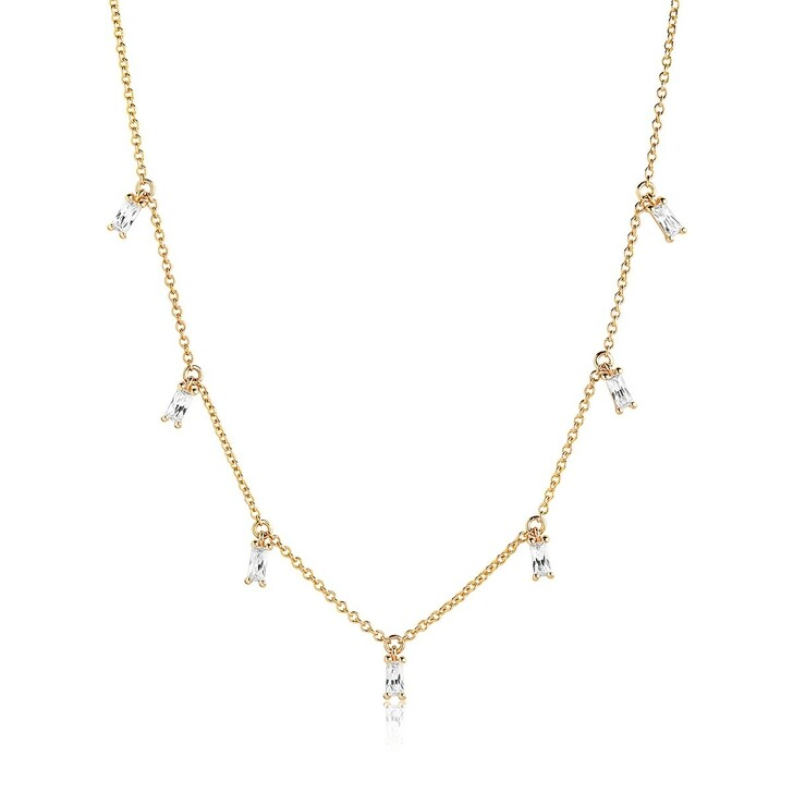 necklaces, Sif Jakobs Jewellery, Princess Baguette Necklace Gold