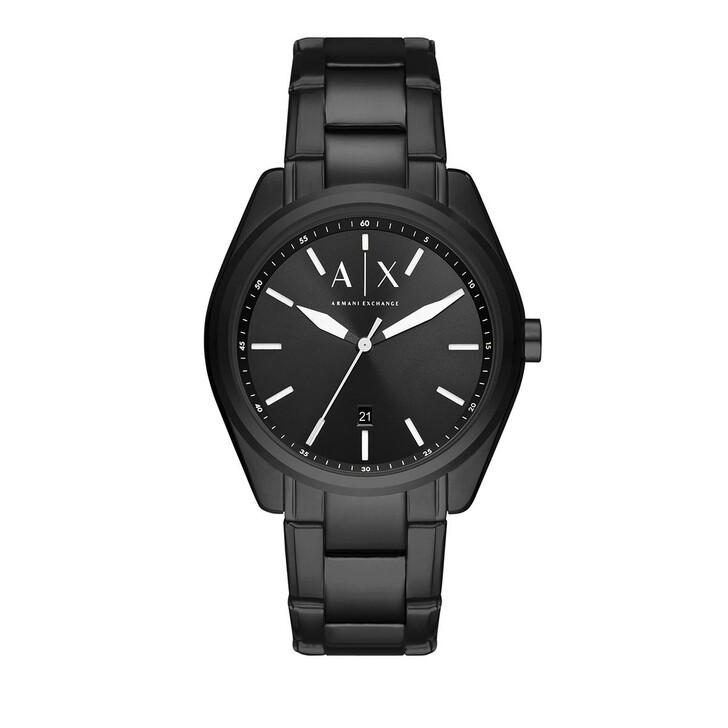 Uhr, Armani Exchange, Three-Hand Date Stainless Steel Watch Black