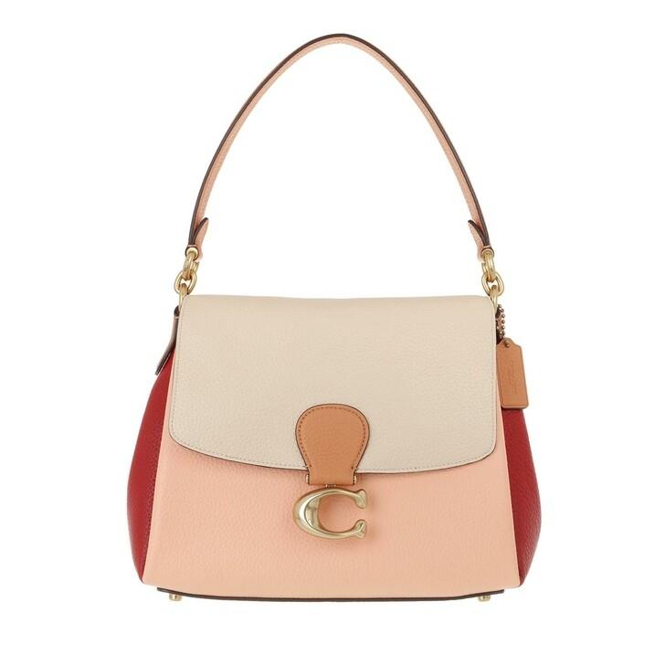 Handtasche, Coach, Colorblock May Shoulder Bag Ivory Blush Multi