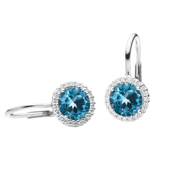Ohrring, Capolavoro, Earrings Espressivo Topas London Faceted White Gold