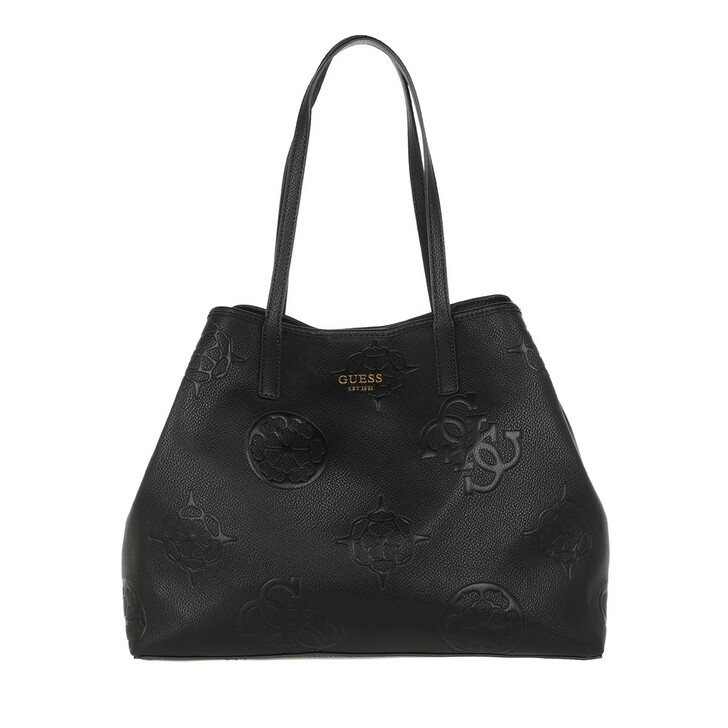 bags, Guess, Vikky Large Tote Black