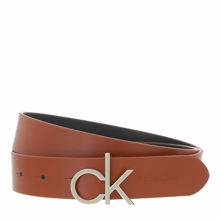 belts, Calvin Klein, CK Logo Belt 30mm Caramel