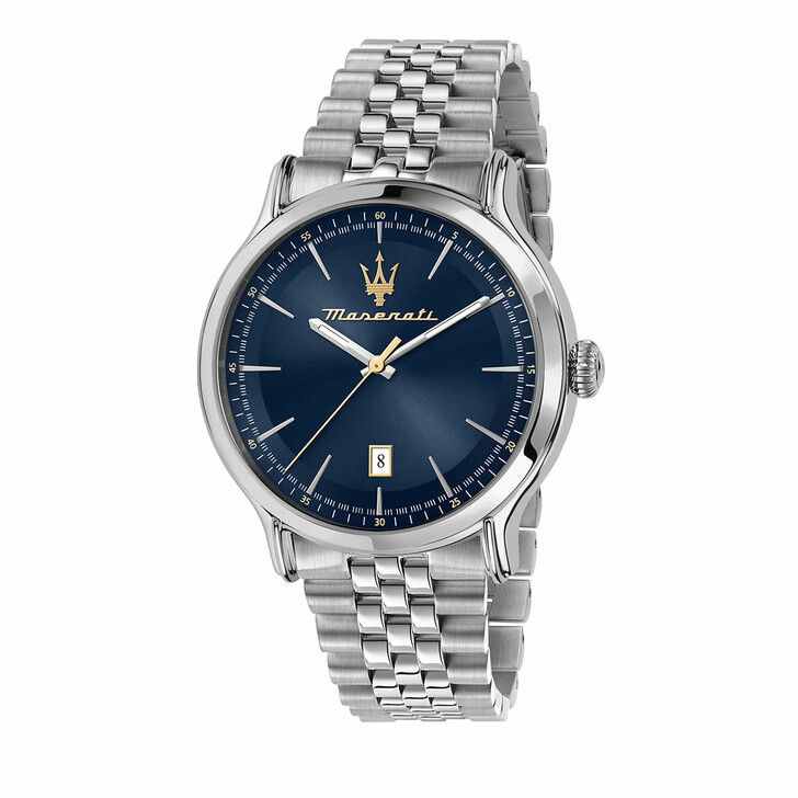 watches, Maserati, Watch Epoca 42mm 3H Blue and Silver