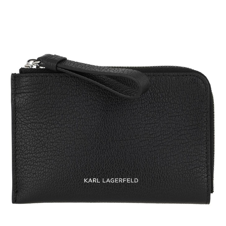 Geldbörse, Karl Lagerfeld, Vektor Zip Card Holder Black