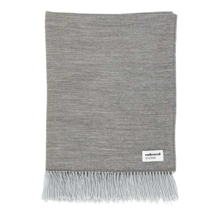 Heimtextilien, Embraced Studios, Reversible Sofa Wool Blanket Dark Grey